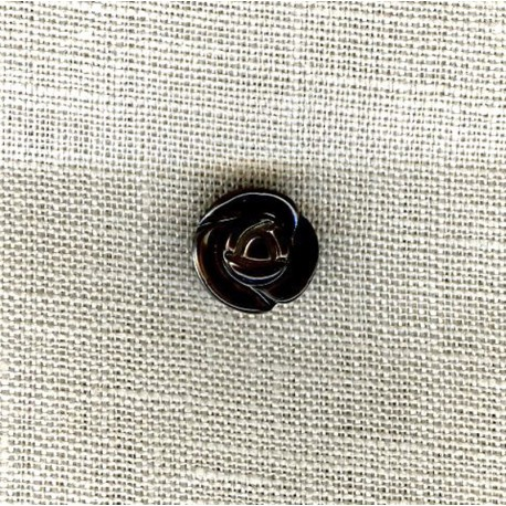 Rose mother-of-pearl button, col. Graphite