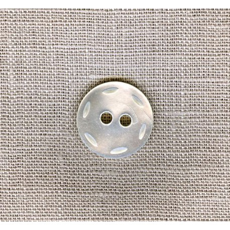 Saddle Stitch Mother-of-pearl shirt button