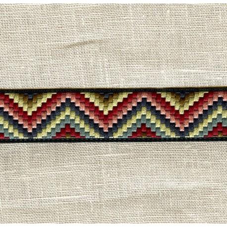 Sioux Jacquard Ribbon, col. Fruity