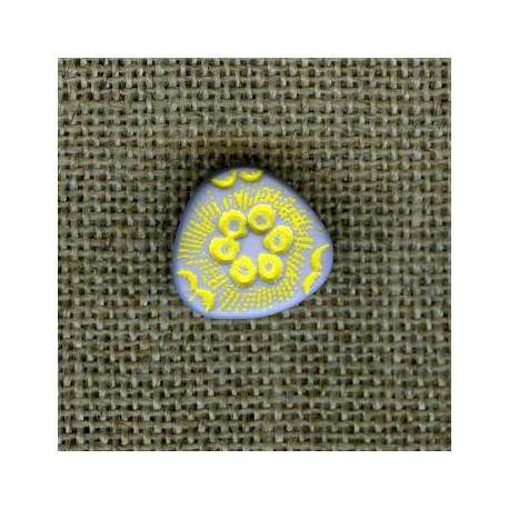 Triangle child button, col. Sky/Yellow