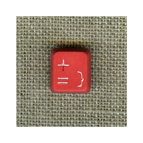 Computer child button, col. Red