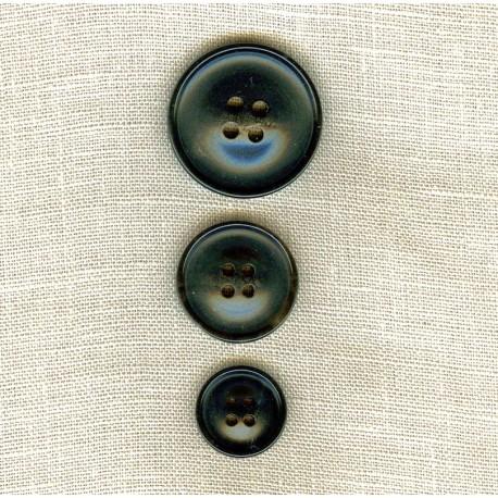 """Suit Black Horn """"Hill"""" Button"""