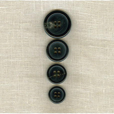 Suit Black Horn Button