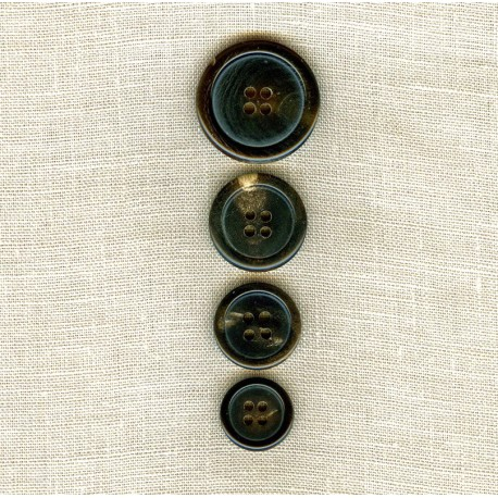 Suit Brown Horn Button