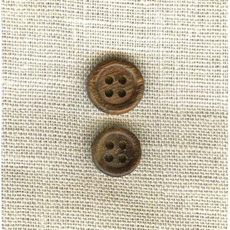 Marronné Olive Wood Button