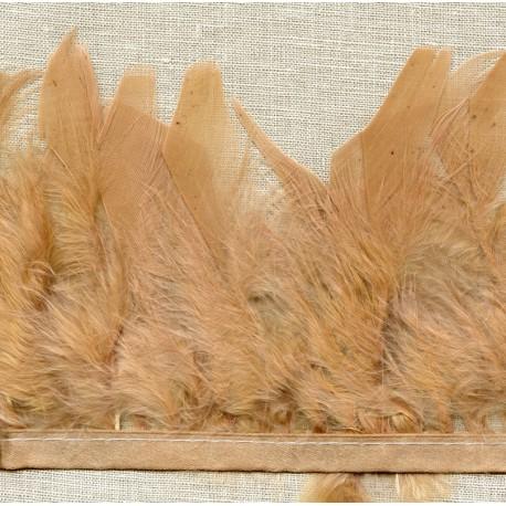 Ruban Bande de plumes Cabaret montée sur ruban de satin