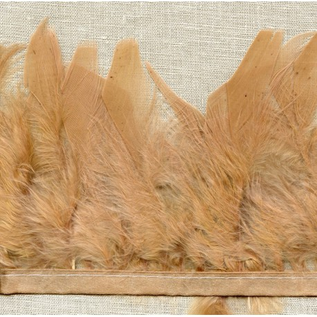Strip of feathers Cabaret on satin ribbon col. Nude 40