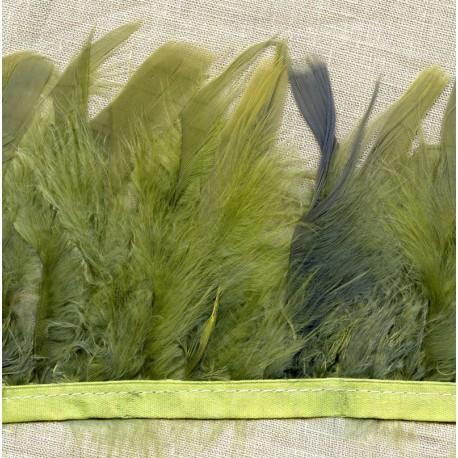 Strip of feathers Cabaret on satin ribbon col. Sage 53