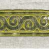 Jacquard Ribbon Odyssée, col. Mustard/ Silver Grey