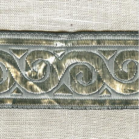 Jacquard Ribbon Odyssée, col. Pearl Grey/  Silver Grey
