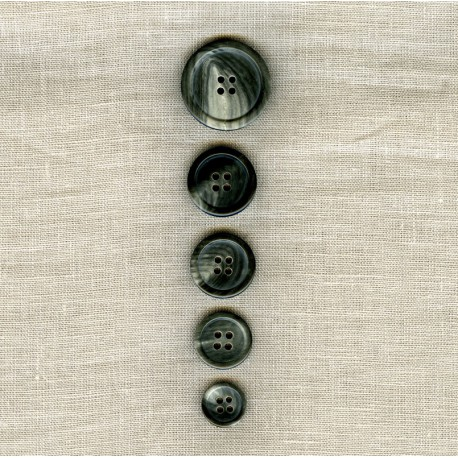 Grey Horn Suit Button