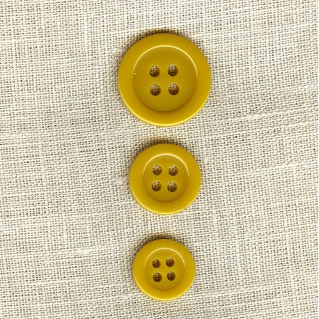 """Polyester Button """"colors"""", col. Mustard"""