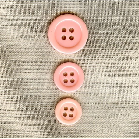"""Polyester Button """"colors"""", col. Angel"""