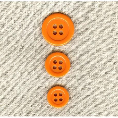"Polyester Button ""colors"", col. Cantaloup"