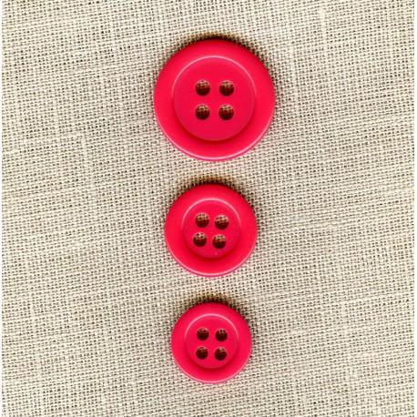 "Polyester Button ""colors"", col. Eglantine"