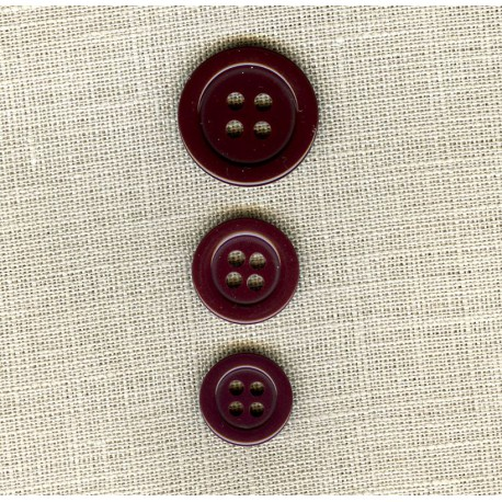 """Polyester Button """"colors"""", col. Plum"""