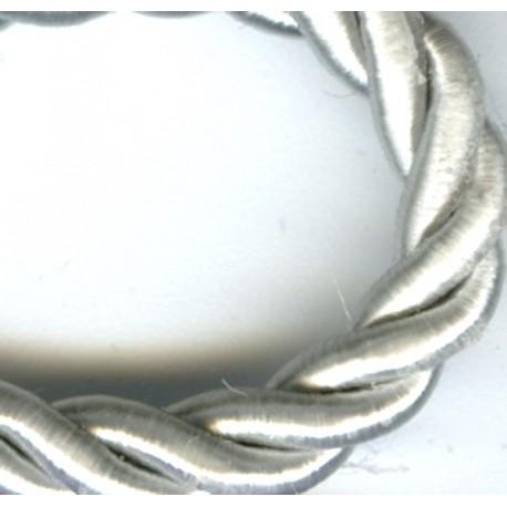Passementerie Cordelière - Diamètre 5mm. Col. Gris perle 316