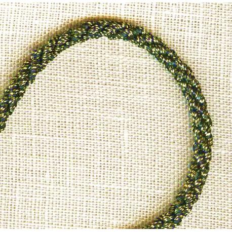 Passementerie Cordelière Lurex - Diamètre 3mm. Col. Vieil Or