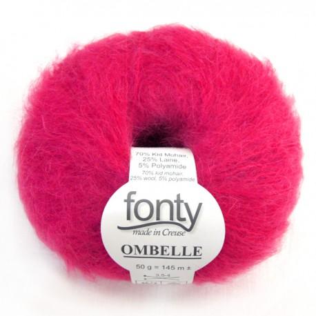 Laine à Tricoter OMBELLE de FONTY, col. Candy 1019