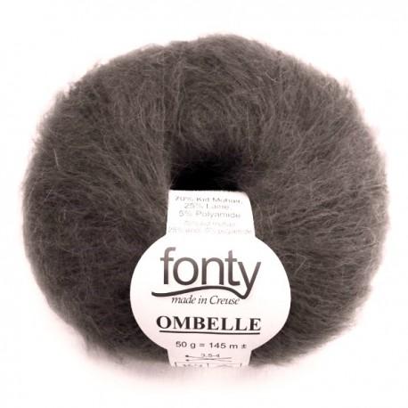 FONTY wool knitting yarn, qual. Ombelle, col. Smoke 1001