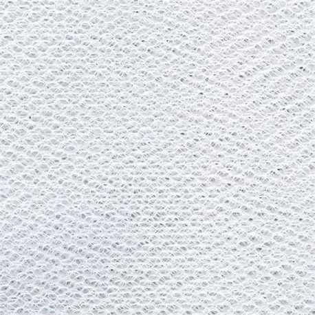 Large Width Tulle col. White