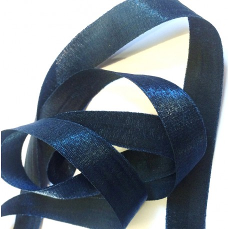 Iridescent taffeta ribbon, col. Blue Night 31