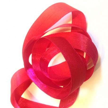 Iridescent taffeta ribbon, col. Hibiscus 28