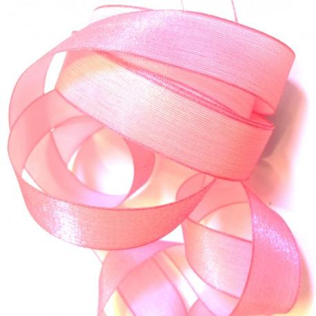 Iridescent taffeta ribbon, col. Barbapapa 25
