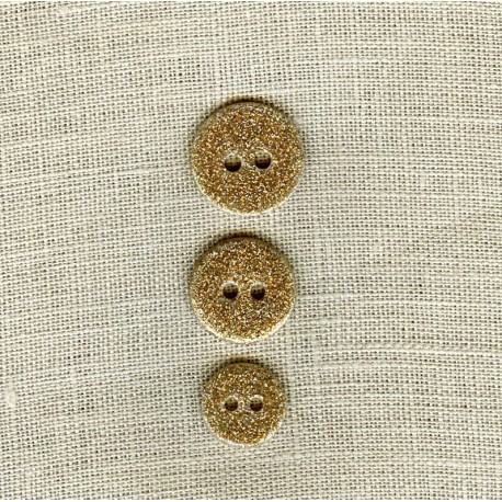 Enamelled Glitter mother of pearl button, col. Gold