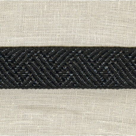 Jacquard Ribbon Straw, col. Black