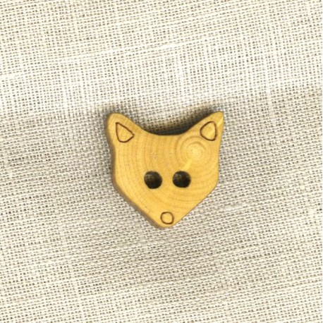 Wood Button Foxy