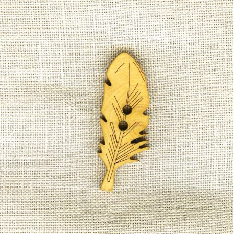 Plumette Wood Button