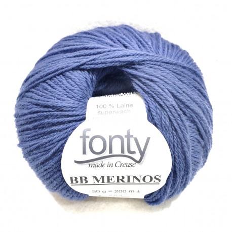 FONTY wool knitting yarn, qual.BB MERINOS, col. Denim 868