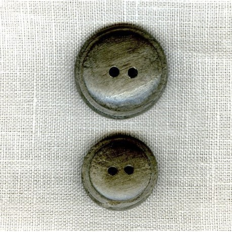 Greyish Wood Button