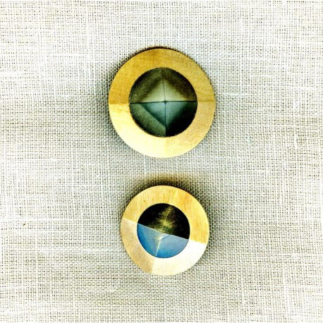 Wood and Mother of Pearl Button