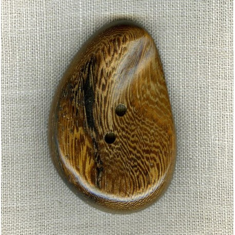 Wood Button Almond