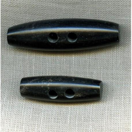 Duffle Coat Horn Button Black
