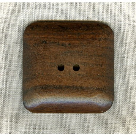 Wood Button Carré