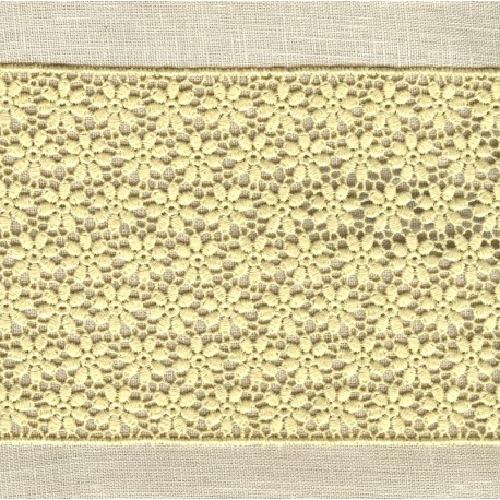 Guipure Ribbon Flower Bed, col. Wheat