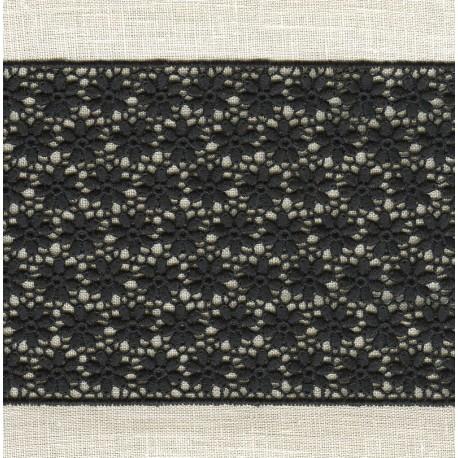 Guipure Ribbon Flower Bed, col. Dark Night
