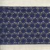 Ruban Guipure Parterre de Fleurs, col. Encre Bleue