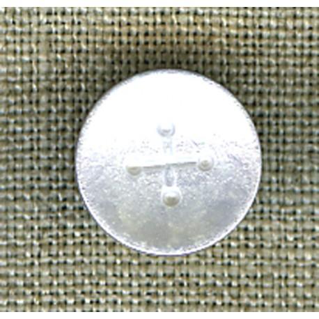 Silver iridescent cross children's button