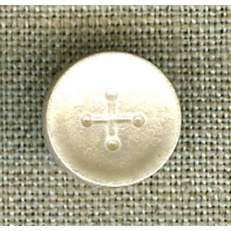 Vanilla iridescent cross children's button