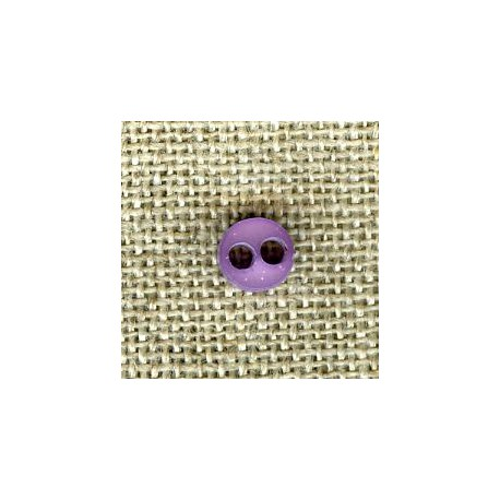 Violet double face matt/bright button of doll