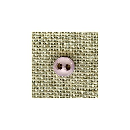 Mauve double face matt/bright button of doll