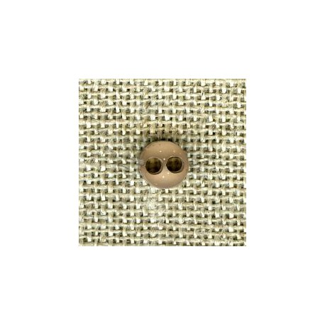 Taupe double face matt/bright button of doll