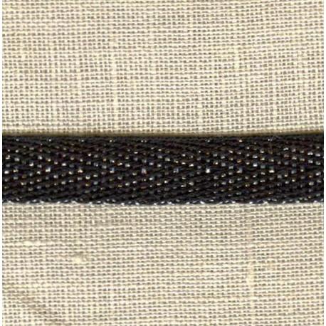 Black Silver Coton Serge Silver Lurex