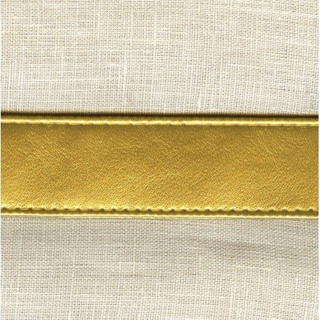 Synthetic Leather Straps, col. Gold