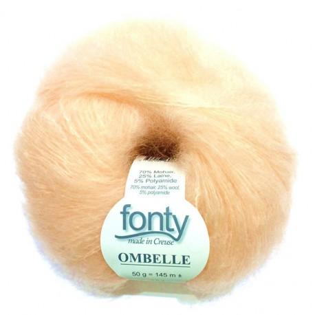 FONTY wool knitting yarn, qual. Ombelle, Light Peach col. 1042