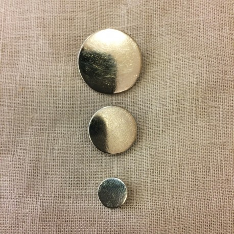 Thin Disk Metal Button, col. Silver